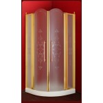 Душевой угол Migliore Diadema 90 cm 2 распашные створки с неподвижными элементами стекло прозрачное/матовое с декором  ML.DDM-22.690