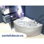 Акриловая ванна AQUATEK Альтаир 160x120 левая и правая  с гидромассажем