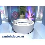 Акриловая ванна AQUATEK Аура 180 с гидромассажем