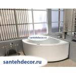 Акриловая ванна AQUATEK Юпитер 150x150 с гидромассажем