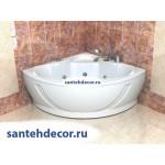 Акриловая ванна AQUATEK Галатея 135x135 с гидромассажем