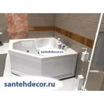 Акриловая ванна AQUATEK Лира 150x150 с гидромассажем