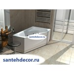 Акриловая ванна AQUATEK Медея 170x95 правая и левая с гидромассажем