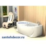 Акриловая ванна AQUATEK Мелисса 180x95 с гидромассажем