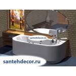 Акриловая ванна AQUATEK Морфей 190x90 с гидромассажем