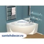 Акриловая ванна AQUATEK Поларис-1 138.5х138.5  с гидромассажем