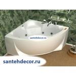 Акриловая ванна AQUATEK Поларис-2 155x155 с гидромассажем