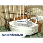 Акриловая ванна AQUATEK Сириус 164x164 с гидромассажем