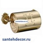 Бумагодержатель с крышкой закрытый  Gabriel Classic Gold 13903-Gold