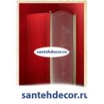 Душевая дверь Migliore 80 см DX /SX(петли справа/слева) стекло матовое с декором ML.DDM 22.581/582.ST
