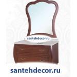 Мебель для ванной комнаты Bellezza Грация Люкс-100 тумба из массива дуба  + раковина + мраморная столешница