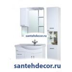 Мебель для ванной комнаты Bellezza Коралл-85 тумба с 3 ящиками белая + раковина
