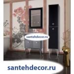 Мебель для ванной комнаты Bellezza LUSSO-65 тумба с 2 ящ. белая,золото, красная, черная (стекло) + раковина