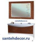Мебель для ванной комнаты Bellezza Маргарита-105 тумба с 2 ящиками комбинированная  пленка ПВХ + раковина