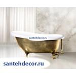 Ванна Bel Bagno  свободностоящая акриловая  на ножках исполнение золото BB04-ORO/BIA